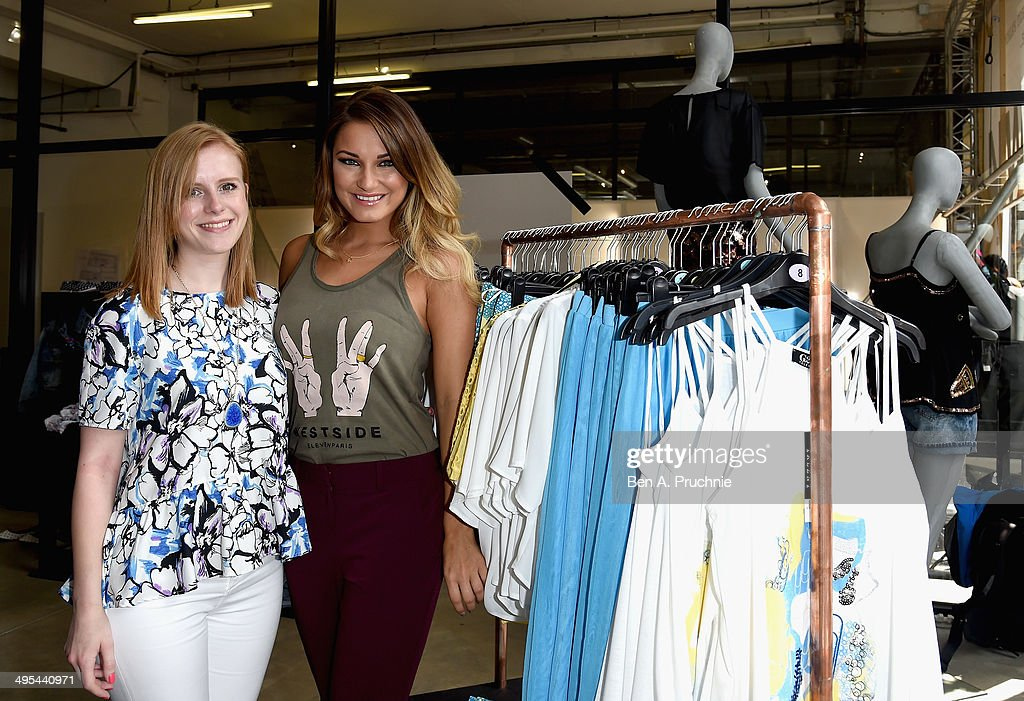Designer Lauren Smith and Sam Faiers at theGeorge Pop up Shop, supporting Graduate Fashion Week 2014 on June 3, 2014 in London, England.