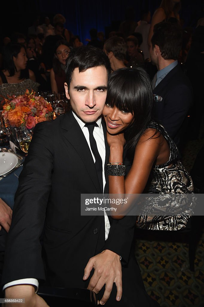 Designer Lazaro Hernandez and Naomi Campbell attend the 18th Annual Accessories Council ACE Awards At Cipriani 42nd Street at Cipriani 42nd Street on...