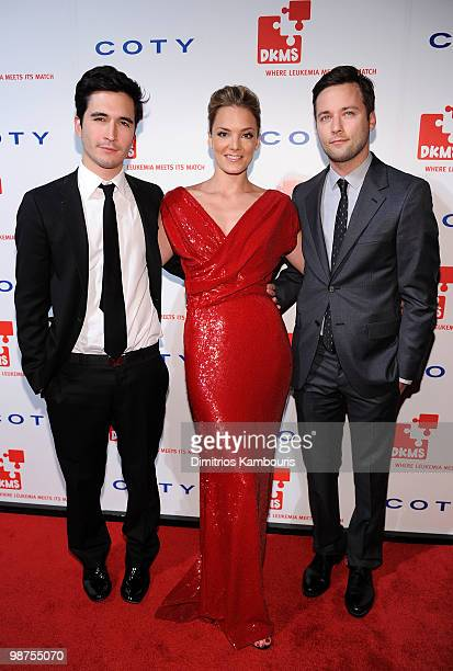 Designer Lazaro Hernandez EVP of DKMS Americas Katharina Harf and designer Jack McCollough attend DKMS' 4th Annual Gala Linked Against Leukemia at...