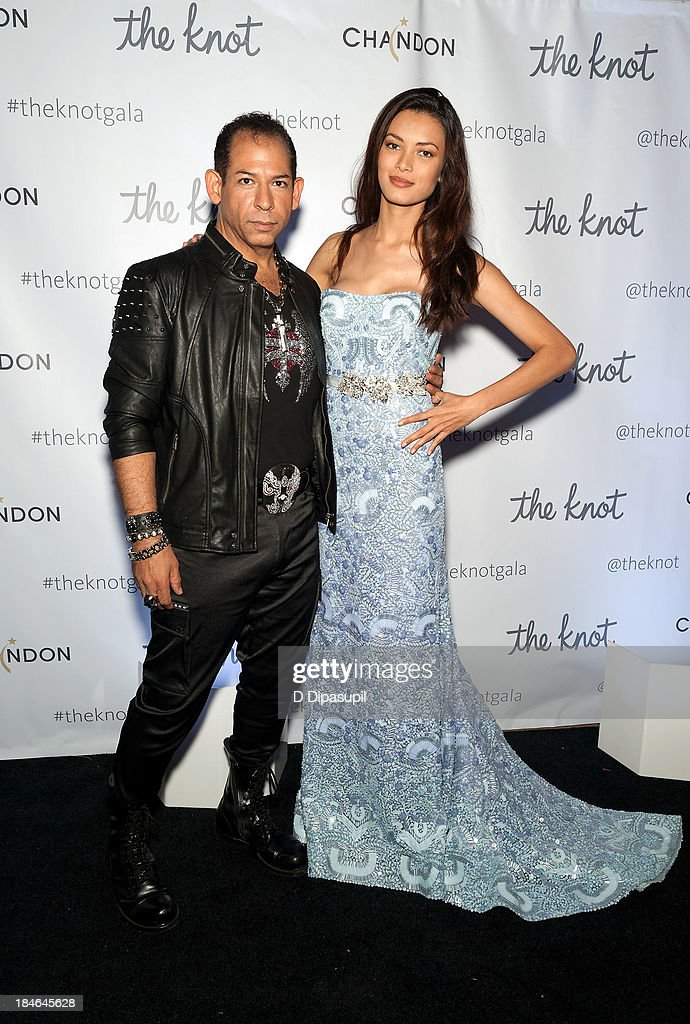 Designer Lazaro Perez (L) attends The Knot Gala at the New York Public Library - Astor Hall on October 14, 2013 in New York City.