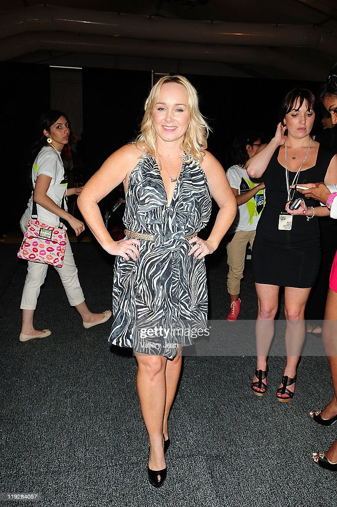 Designer Leah Madden during Mercedes-Benz Swim 2012 at Raleigh Hotel on July 15, 2011 in Miami Beach, Florida.