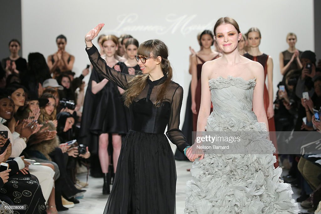 Designer Leanne Marshall walks the runway wearing Leanne Marshall Fall 2016 during New York Fashion Week: The Shows at The Gallery, Skylight at Clarkson Sq on February 13, 2016 in New York City.