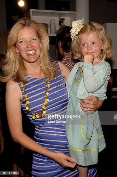 Designer Lela Rose and her daughter Rose pose at the Lela Rose Resort 2011 Collection on June 8 2010 in New York City