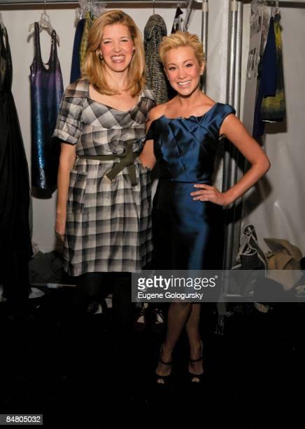 Designer Lela Rose and Kellie Pickler attend the Lela Rose Fall 2009 during MercedesBenz Fashion Week at The Salon in Bryant Park on February 15 2009...