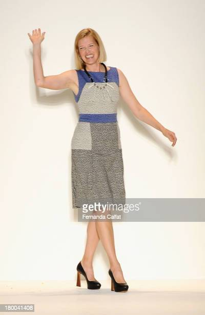 Designer Lela Rose at the Lela Rose fashion show during MercedesBenz Fashion Week Spring 2014 at The Studio at Lincoln Center on September 8 2013 in...