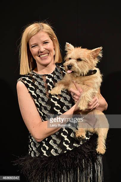 Designer Lela Rose is seen at the Lela Rose fashion show during MercedesBenz Fashion Week Fall 2015 at The Pavilion at Lincoln Center on February 17...