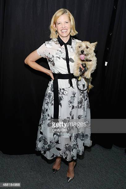 Designer Lela Rose poses backstage at Lela Rose Spring 2016 during New York Fashion Week The Shows at The Gallery Skylight at Clarkson Sq on...
