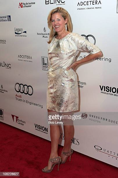 Designer Lela Rose poses on the red carpet on day two of Fashion Houston 2010 Presented By Audi at the Wortham Theatre Center on October 12 2010 in...