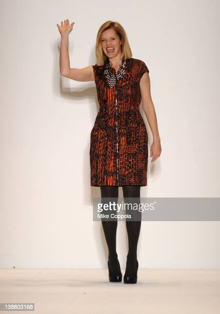 Designer Lela Rose walks the runway at the Lela Rose Fall 2012 fashion show for Payless during MercedesBenz Fashion Week at The Studio at Lincoln...