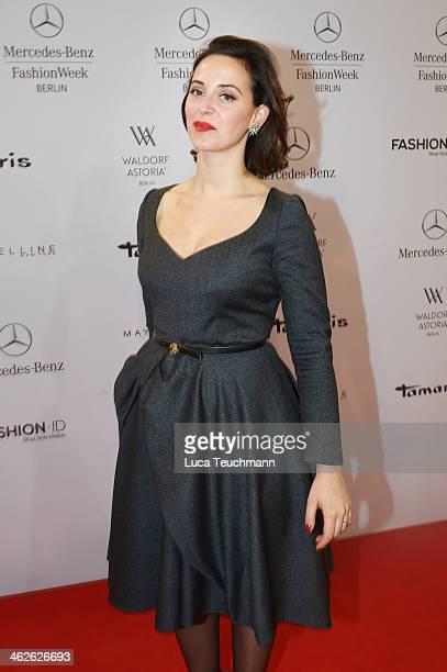 Designer Lena Hoschek attends the Lena Hoschek show during MercedesBenz Fashion Week Autumn/Winter 2014/15 at Brandenburg Gate on January 14 2014 in...