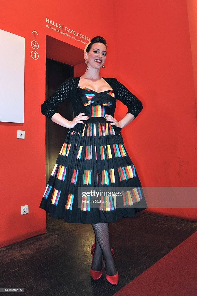 Designer Lena Hoschek attends the Vienna Awards For Fashion & Lifestyle at Museumsquartier on March 26, 2012 in Vienna, Austria.
