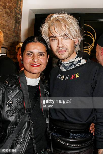 Designer Leyla Piedayesh and Bill Kaulitz singer of the band Tokio Hotel during the photo art exhibition and book launch of BILLY at Seven Star...