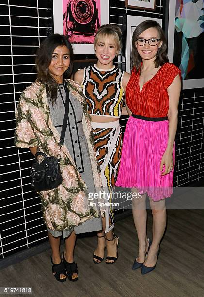 Designer Liquica Anggraini Jazmin Grace Grimaldi and Libby Woodbridge attend the 'The Jungle Book' hosted by Disney with the Cinema Society Samsung...