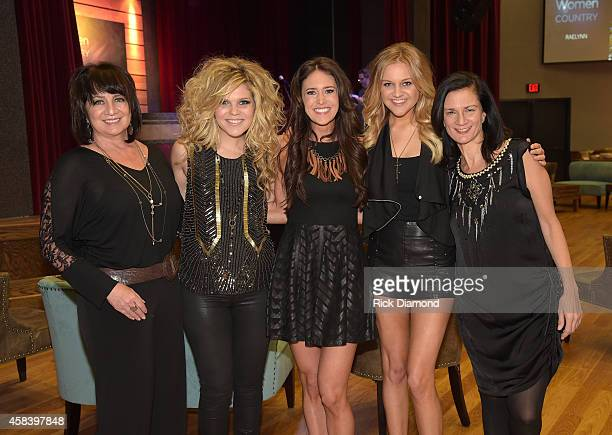 Designer Lisa George Natalie Stovall Kelleigh Bannen Kelsea Ballerini and Leslie Fram attend the CMT Next Women Of Country at City Winery Nashville...