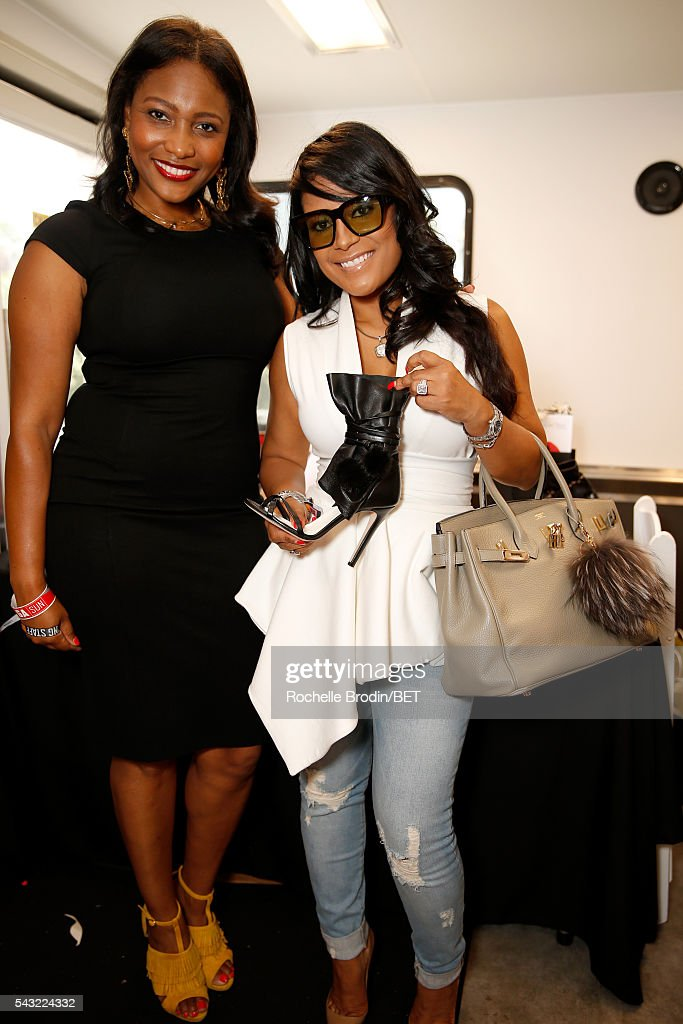 Designer Lisa Nicole Cloud (R) attends the BETX gifting suite during the 2016 BET Experience on June 26, 2016 in Los Angeles, California.