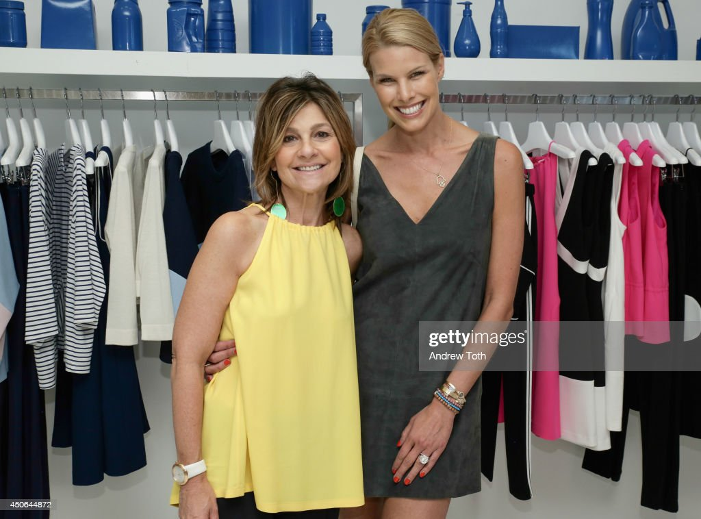 Designer Lisa Perry and Beth Stern attend Hamptons Magazine celebrates The New Lisa Perry store on June 14 2014 in East Hampton New York
