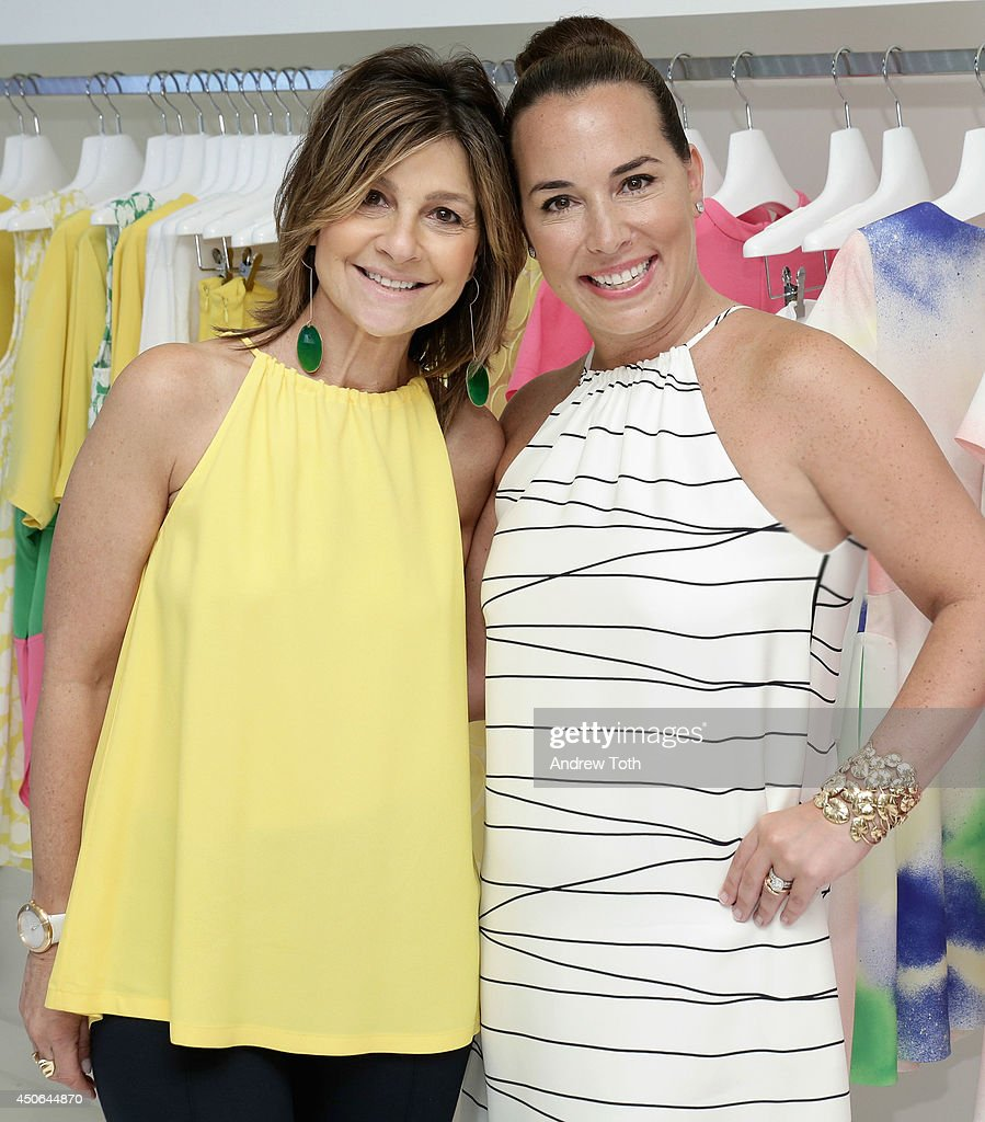 Designer Lisa Perry and Hamptons Magazine Editor In Chief Samantha Yanks attend Hamptons Magazine celebrates The New Lisa Perry store on June 14 2014...
