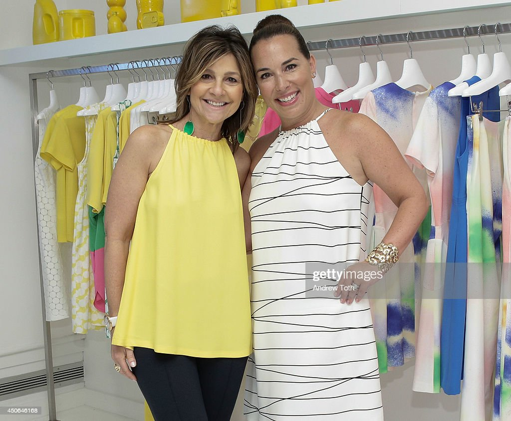 Designer Lisa Perry (L) and Hamptons Magazine Editor In Chief Samantha Yanks attend Hamptons Magazine celebrates The New Lisa Perry store on June 14, 2014 in East Hampton, New York.