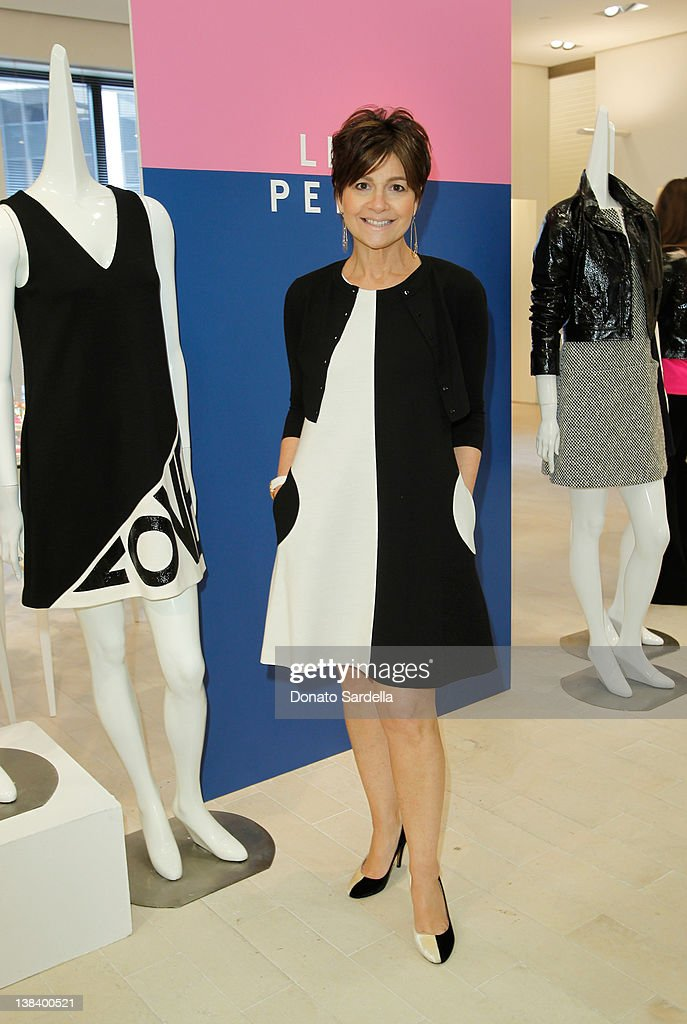 Designer Lisa Perry attends a lunch in honor of Lisa Perry and her spring collection hosted by Barneys at Barneys New York Beverly Hills on February...