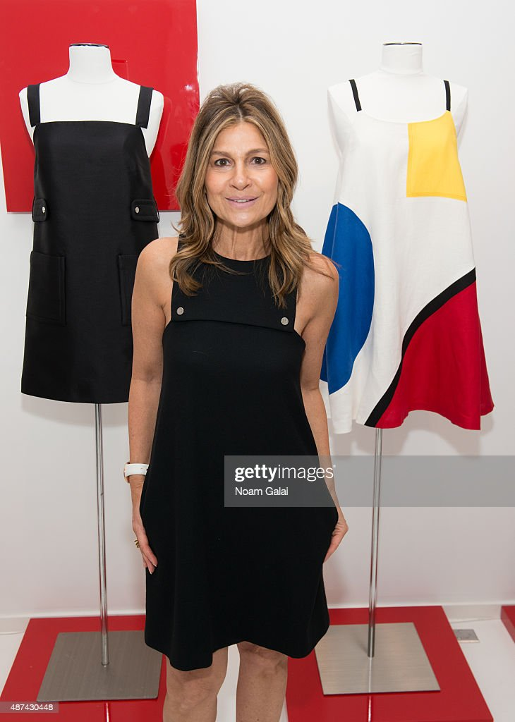 Designer Lisa Perry poses at the Lisa Perry Presentation during Spring 2016 New York Fashion Week on September 9 2015 in New York City