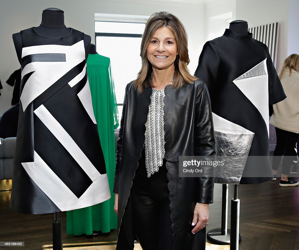 Designer Lisa Perry posses for a photo at the Lisa Perry Presentation during MercedesBenz Fashion Week Fall 2015 on February 11 2015 in New York City