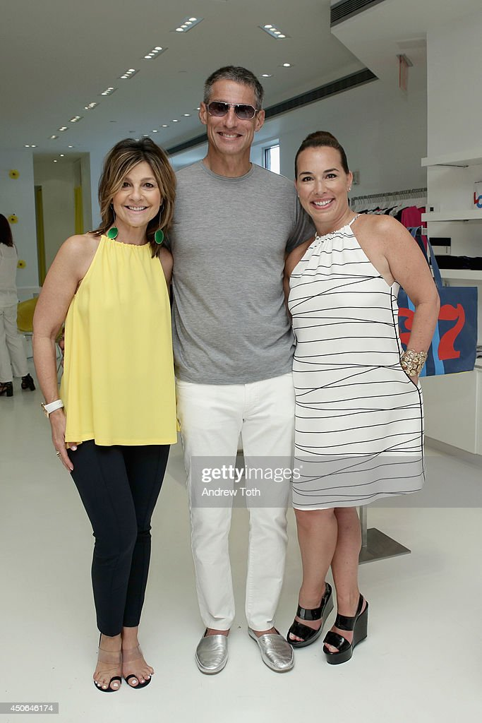Designer Lisa Perry, Richard Perry and Hamptons Magazine Editor In Chief Samantha Yanks attend Hamptons Magazine celebrates The New Lisa Perry store on June 14, 2014 in East Hampton, New York.
