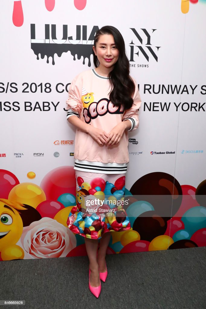 Designer Liu Jia prepares backstage for the Jia Liu fashion show during New York Fashion Week: The Shows at Gallery 2, Skylight Clarkson Sq on September 13, 2017 in New York City.