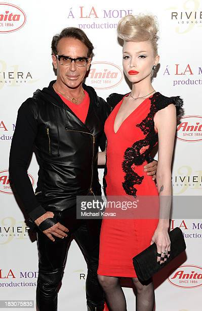 Designer Lloyd Klein and recording artist Ivy Levan arrive for A la mode Productions Presents Designers Night Out at Sofitel Hotel on October 3 2013...