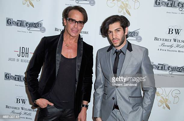 Designer Lloyd Klein and singer Mohammad Molaei attend Jason Of Beverly Hills' PreGRAMMY cocktail hour and salute to fashion icon David Thomas'...