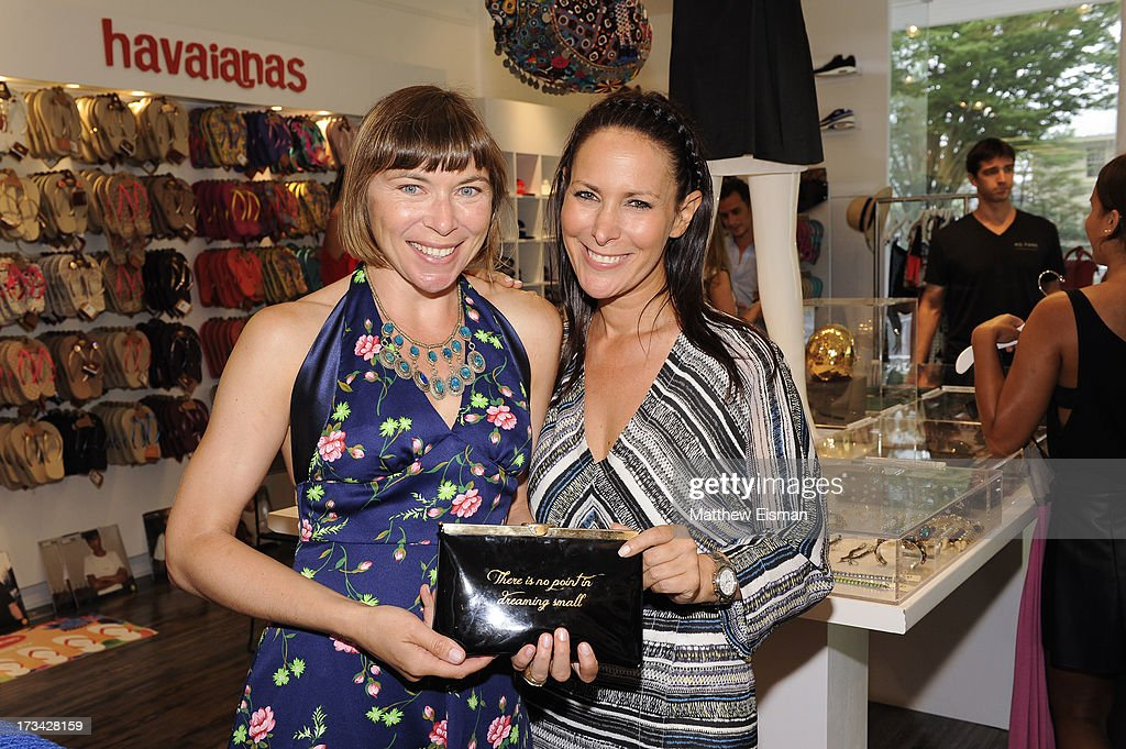 Designer Lori Levine (R) and guest attend Blue & Cream presents the Hamptons Summer Soiree with Comes With Baggage and Havaianas on July 13, 2013 in East Hampton, New York.