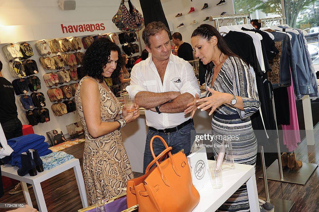 Designer Lori Levine (R) and guests attend Blue & Cream presents the Hamptons Summer Soiree with Comes With Baggage and Havaianas on July 13, 2013 in East Hampton, New York.