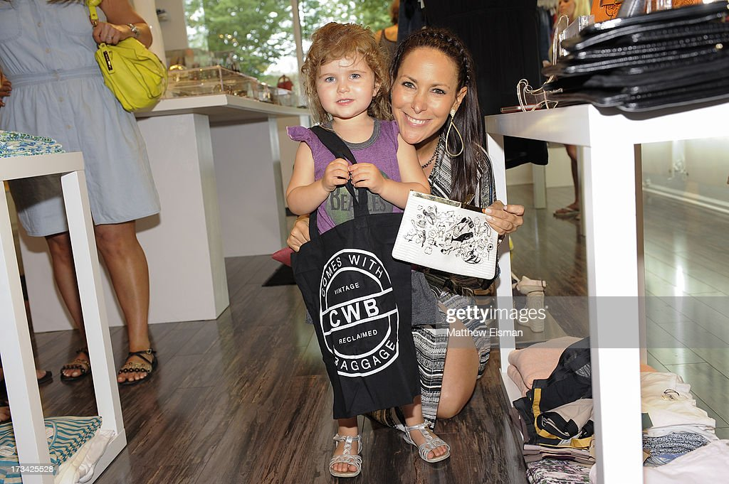 Designer <a gi-track='captionPersonalityLinkClicked' href=/galleries/search?phrase=Lori+Levine&family=editorial&specificpeople=2938254 ng-click='$event.stopPropagation()'>Lori Levine</a> (R) attends Blue & Cream presents the Hamptons Summer Soiree with Comes With Baggage and Havaianas on July 13, 2013 in East Hampton, New York.