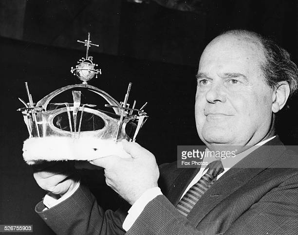 Designer Louis Osman holding the coronet he designed for Prince Charles as he becomes the Prince of Wales London June 24th 1969
