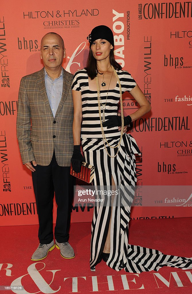 Designer Louis Verdad and his muse, actor, Berenice Noriega arrive at the 5th Annual Designer & The Muse Hosted By Kathy Hilton at Mr. C Beverly Hills on October 23, 2013 in Beverly Hills, California.