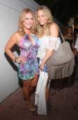 "Designer Lourdes ""Luli"" Hanimia and LeAnn Rimes backstage at Luli Fama fashion show during MercedesBenz Fashion Week Swim 2015Cabana Grande at The..."