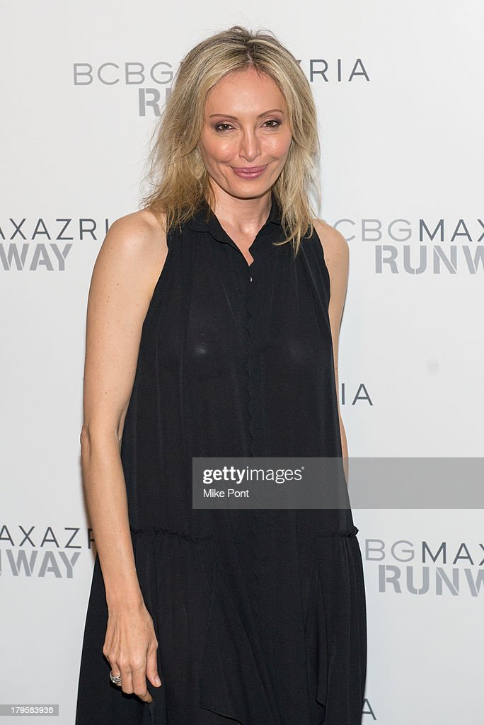 Designer <a gi-track='captionPersonalityLinkClicked' href=/galleries/search?phrase=Lubov+Azria&family=editorial&specificpeople=2281952 ng-click='$event.stopPropagation()'>Lubov Azria</a> attends the BCBGMAXAZRIA Spring 2014 fashion show at The Theatre Lincoln Center on September 5, 2013 in New York City.