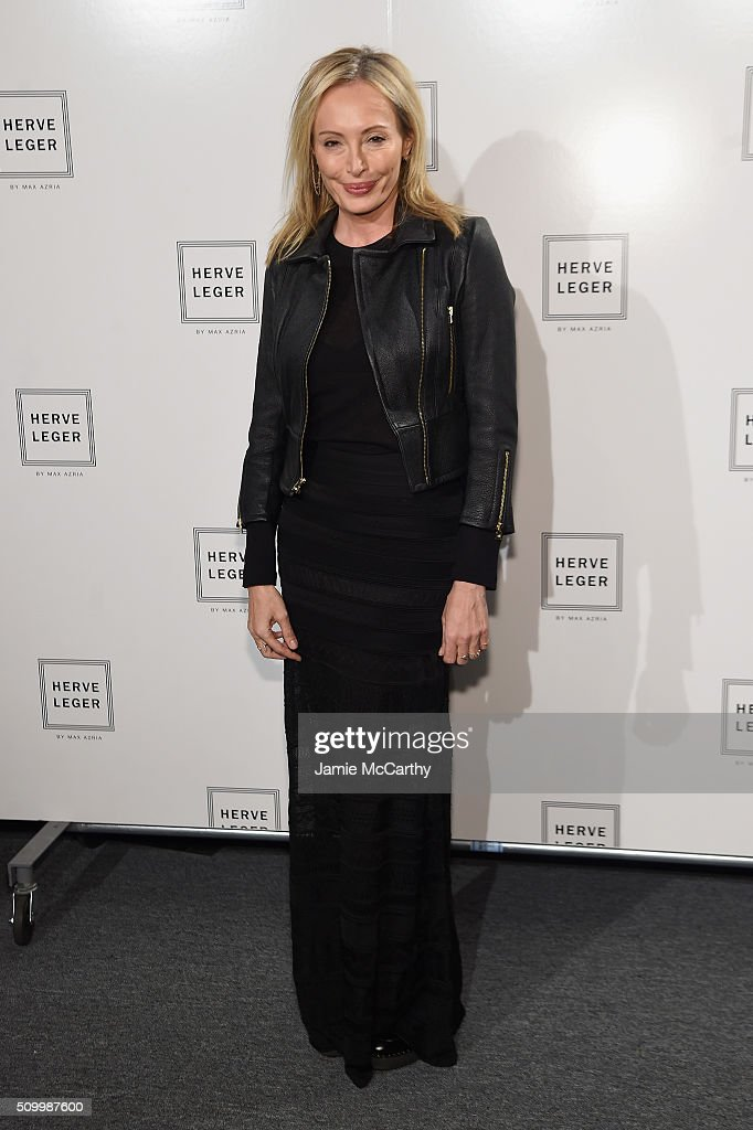 Designer <a gi-track='captionPersonalityLinkClicked' href=/galleries/search?phrase=Lubov+Azria&family=editorial&specificpeople=2281952 ng-click='$event.stopPropagation()'>Lubov Azria</a> attends the Herve Leger By Max Azria Fall 2016 New York Fashion Week: The Shows at The Arc, Skylight at Moynihan Station on February 13, 2016 in New York City.