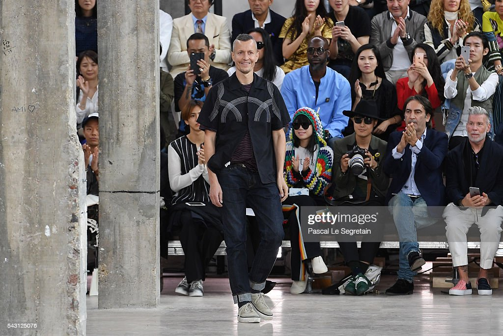 Designer <a gi-track='captionPersonalityLinkClicked' href=/galleries/search?phrase=Lucas+Ossendrijver&family=editorial&specificpeople=5531949 ng-click='$event.stopPropagation()'>Lucas Ossendrijver</a> walks the runway during the Lanvin Menswear Spring/Summer 2017 show as part of Paris Fashion Week on June 26, 2016 in Paris, France.