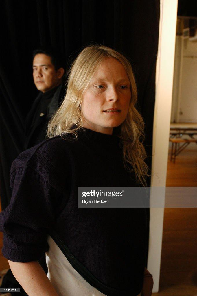 Designer luella bartley stands backstage at the luella bartley fashion