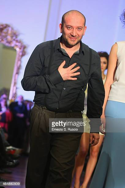 Designer Luigi Borbone during the Luigi Borbone fashion show as part of AltaRoma Fashion Week Spring/Summer 2014 on January 24 2014 in Rome Italy