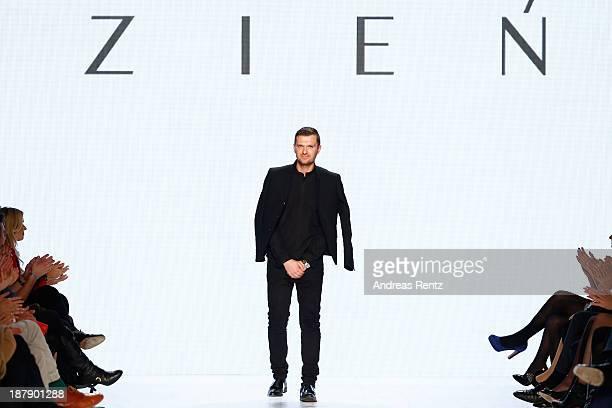 Designer Maciej Zien on the runway after the Zien show during MercedesBenz Fashion Days Zurich 2013 on November 13 2013 in Zurich Switzerland