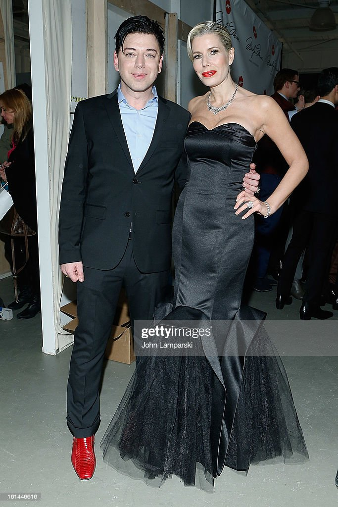 Designer Malan Breton and Aviva Drescher attend the Malan Breton during Fall 2013 Mercedes-Benz Fashion Week at Pier 59 Studios on February 10, 2013 in New York City.
