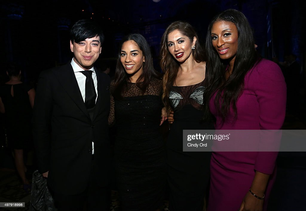 Designer Malan Breton Broadcast journalist Sharon Carpenter Dr Tabasum Mir and Chantelle Fraser of Blood Sweat and Heels attend the Cystic Fibrosis...