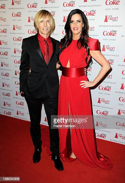Designer Marc Bouwer and TV personality Patti Stanger attend the Heart Truth's Red Dress Collection 2012 Fashion Show at Hammerstein Ballroom on...