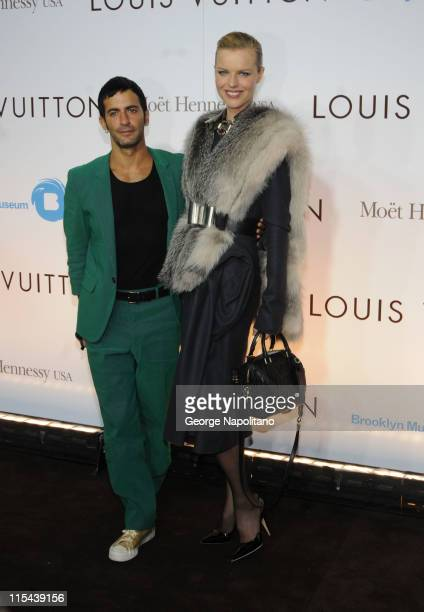 Designer Marc Jacobs and supermodel Linda Evangelista arrive at the ' Murakami' Exhibition Opening at The Brooklyn Museum on April 3 2008 in Brooklyn...