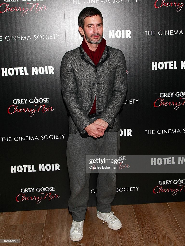 Designer <a gi-track='captionPersonalityLinkClicked' href=/galleries/search?phrase=Marc+Jacobs+-+Fashion+Designer&family=editorial&specificpeople=4190324 ng-click='$event.stopPropagation()'>Marc Jacobs</a> attends Gato Negro Films & The Cinema Society screening of 'Hotel Noir' at the Crosby Street Hotel on November 9, 2012 in New York City.