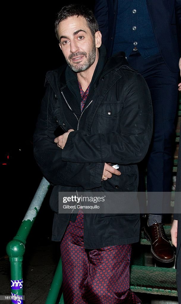 Designer Marc Jacobs attends the Marc Jacobs Fall 2013 Mercedes-Benz Fashion Show at N.Y. State Armory on February 14, 2013 in New York City.