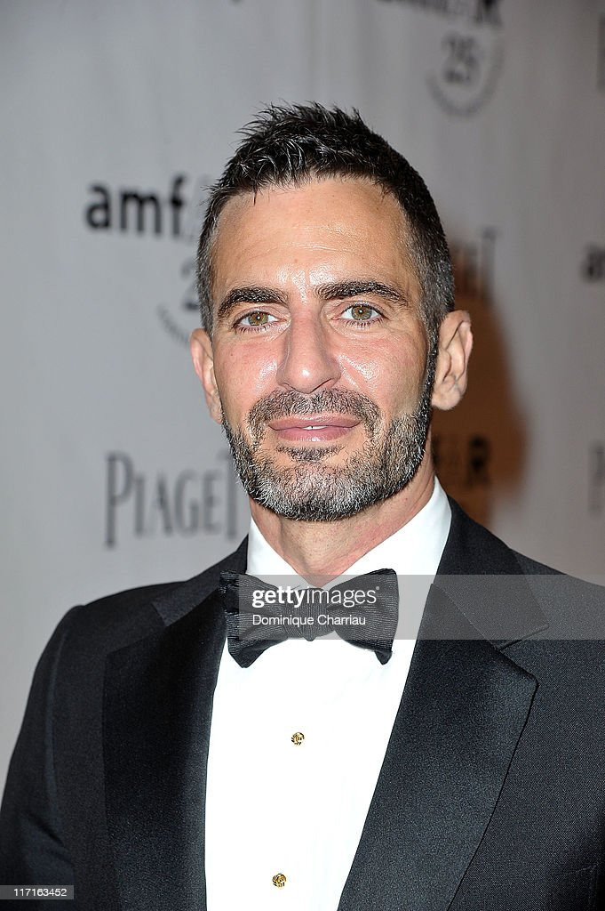 Designer Marc Jacobs poses as he arrives at the 25th amfAR Inspiration Gala at Pavillon Gabriel on June 23, 2011 in Paris, France.