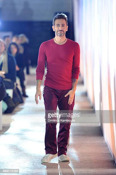 Designer Marc Jacobs walks the runway at the Marc Jacobs fashion show during MercedesBenz Fashion Week Fall 2014 at Lexington Avenue Armory on...