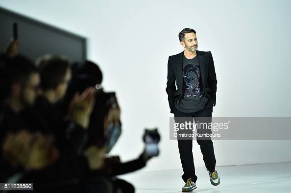 Designer Marc Jacobs walks the runway wearing Marc Jacobs Fall 2016 during New York Fashion Week at Park Avenue Armory on February 18 2016 in New...